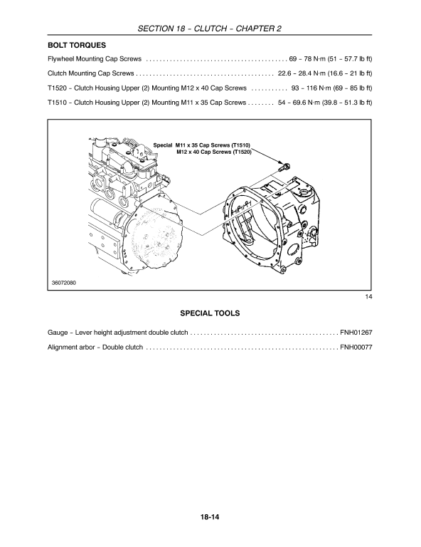 New Holland T1510, T1520 Tractor Service Manual