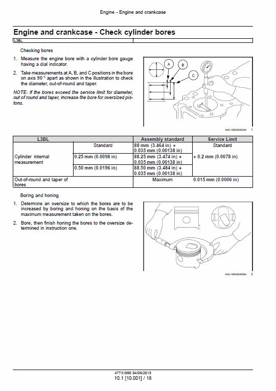 Cnh L3al, L3bl Tier 3 Engine Service Manual