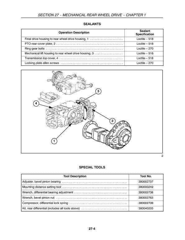 New Holland Tt60a, Tt75a Tractor Service Manual