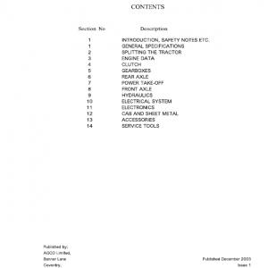 Challenger MT425, MT445, MT455, MT465 Tractor Manual