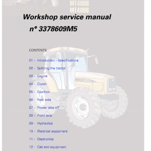 Challenger MT425B, MT445B, MT455B Tractor Workshop Manual