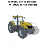 Challenger MT645C, MT655C, MT665C, MT675C, MT685C Tractor Workshop Manual