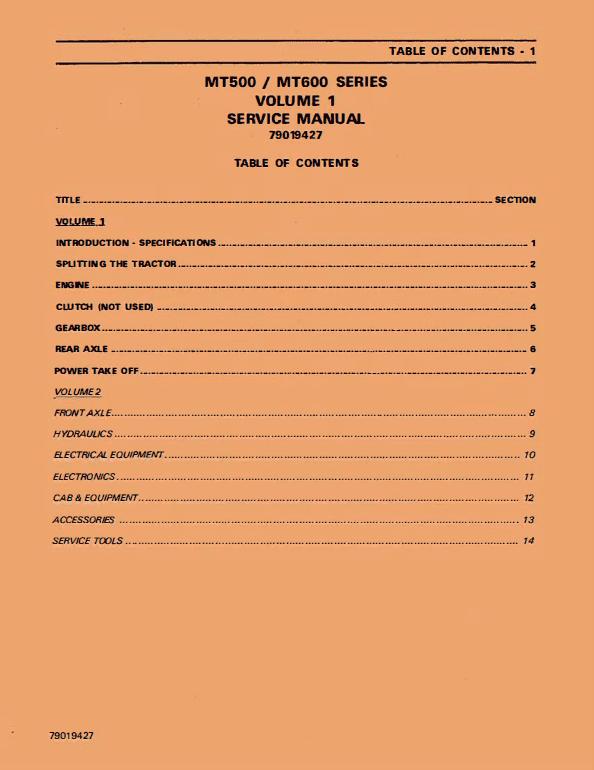 Challenger MT635, MT645, MT655, MT665 Tractor Workshop Manual
