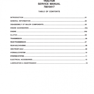 Challenger MT225 Tractor Service Manual