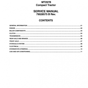 Challenger MT297B Tractor Service Manual