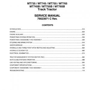 Challenger MT745B, MT755B, MT765B Tractor Service Manual