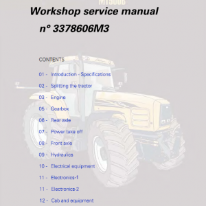 Challenger MT565B, MT575B, MT585B, MT595B Tractor Workshop Manual