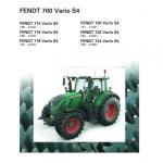 Fendt 714, 716, 718, 720, 722, 724 Tier 4 Tractor Service Manual