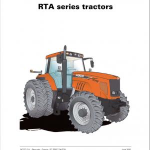 AGCO RT110A, RT120A, RT140A, RT155A, RT180A Tractor Service Manual