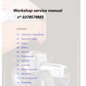 AGCO RT110A, RT120A, RT120A, RT140A, RT155A, RT180A Tractor Manual