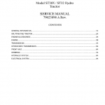 AGCO ST30X, ST32 Tractor Workshop Service Manual