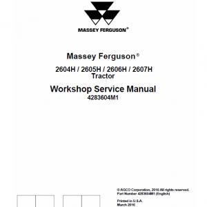 Massey Ferguson 2604H, 2605H, 2606H, 2607H Tractor Service Manual