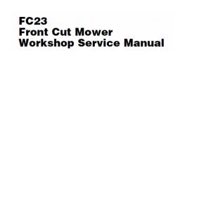 Massey Ferguson FC23 Front Mower Service Manual