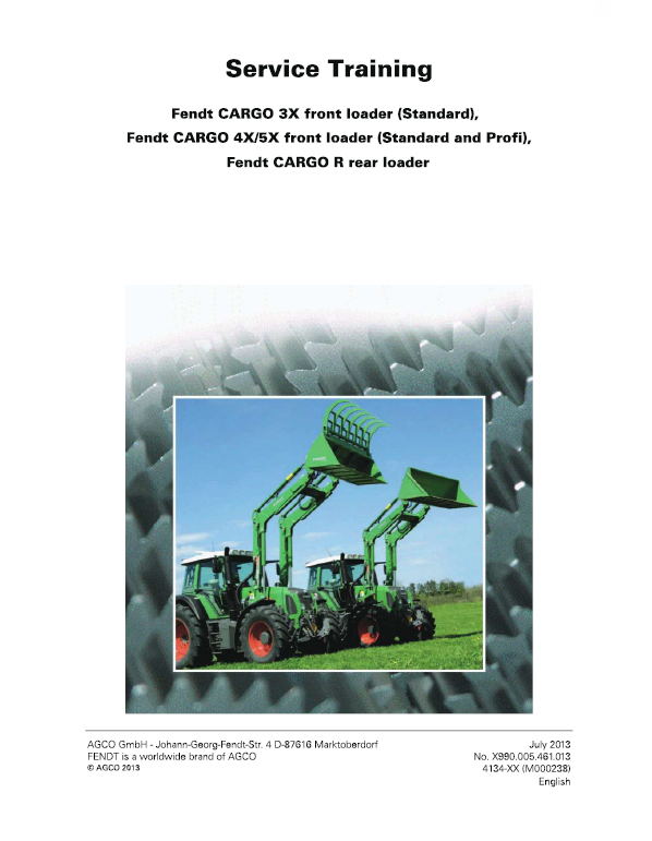 Fendt 3X, 4X, 5X Front Loader Service Manual