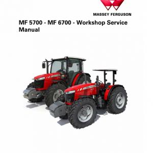 Massey Ferguson 5708, 5709, 5710, 5711 Tractor Service Manual