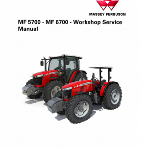 Massey Ferguson 6711, 6712, 6713 Tractor Service Manual