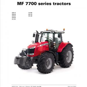 Massey Ferguson 7719, 7720, 7722, 7724, 7726 Tractor Service Manual