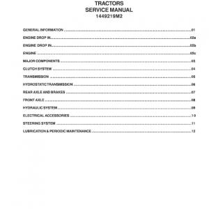 Massey Ferguson 1417, 1423 Tractor Service Manual