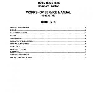Massey Ferguson 1648, 1652, 1655 Compact Tractor Manual