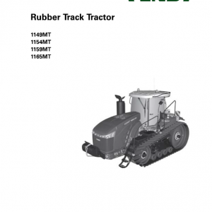 Fendt 1149MT, 1154MT, 1159MT, 1165MT Tractor Service Manual