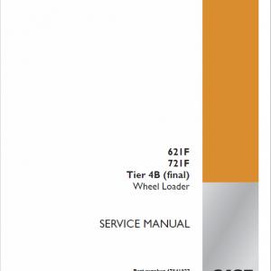 Case 621F, 721F, 721F Tier 4 Wheel Loader Service Manual