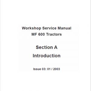 Massey Ferguson 630, 650, 660, 680 Tractor Service Manual