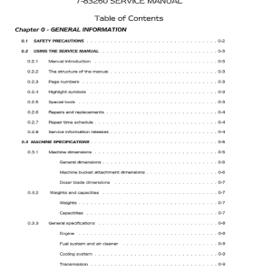 Case 21, 31, 35 Mini-Excavator Service Manual