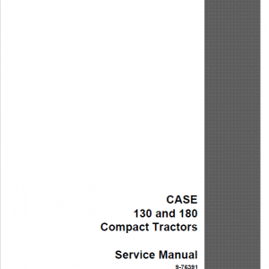 Case 130, 180 Tractor Service Manual