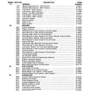 Case 2470, 2670 Tractor Service Manual