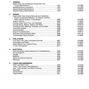 Case 1150D, 1155D Crawler Dozer Service Manual