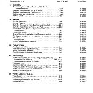 Case 1450 Crawler Dozer Service Manual