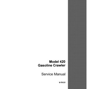 Case Terratrac 420 Crawler Dozer Service Manual