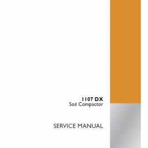 Case 1107DX Soil Compactor Service Manual