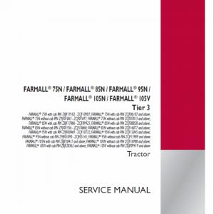 Case Farmall 75N, 85N, 95N, 105N, 105V Tractor Service Manual