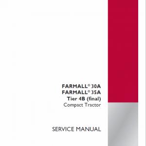 Case Farmall 30A, 35A, 40A Tractor Service Manual