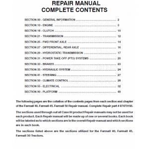Case Farmall 40, 45, 50 Tractor Service Manual