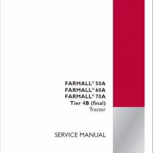 Case Farmall 50A, 60A, 70A Tractor Service Manual