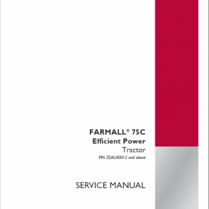 Case Farmall 75C Efficient Power Tractor Service Manual