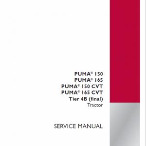 Case Puma 150, 165 CVT Tractor Service Manual