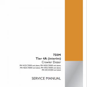 Case 750M Crawler Dozer Service Manual