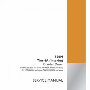 Case 850M Crawler Dozer Service Manual