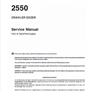 Case 2550 Crawler Dozer Service Manual