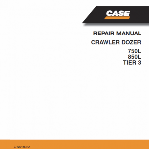 Case 750L, 850L Crawler Dozer Service Manual