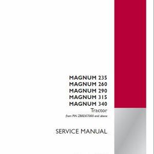 Case 235, 260, 290, 315, 340, 370 Magnum Tractor Service Manual