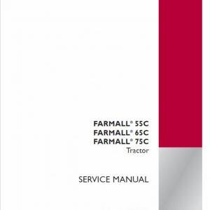 Case Farmall 55C, 65C, 75C Tractor Service Manual