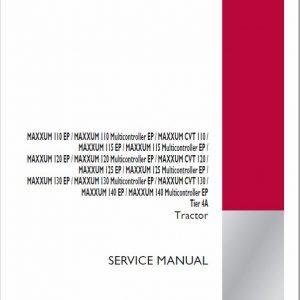 Case 110, 115, 120, 130, 140 Maxxum EP Tractor Service Manual