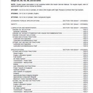 Case 280, 330, 380, 430, 480, 530 Steiger Tractor Service Manual