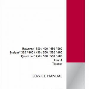 Case 350, 400, 450, 600 Steiger Tractor Service Manual