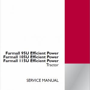 Case Farmall 85U, 95U, 105U, 115U Tractor Service Manual