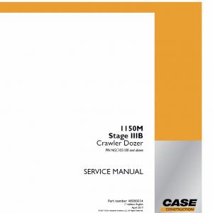 Case 1150M Crawler Dozer Service Manual